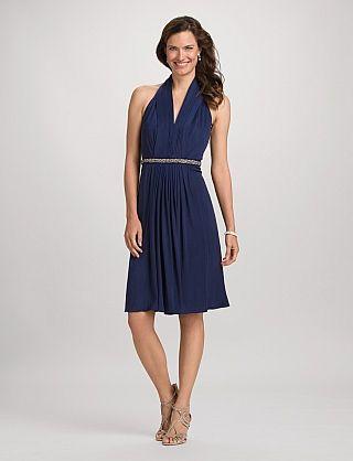 db RSVP™ Ruched Halter Dress