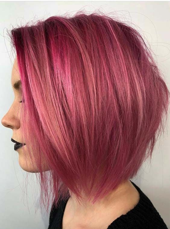 See here the trendy pink hair colors to make your short hair more spicy and elegant in 2018. Wear these amazing hair colors with various hair lengths if you're looking for fresh and modern hair colors for short hair. We assure you for attractive hair look by wearing these hair colors.