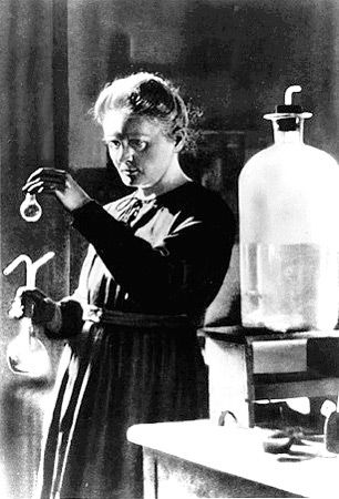 Marie Skłodowska-Curie.  November 7 1867 to  July 4 1934) was a French-Polish physicist and chemist famous for her pioneering research on radioactivity. She was the first person honored with two Nobel Prizes, in physics and chemistry. She was the first female professor at the University of Paris.