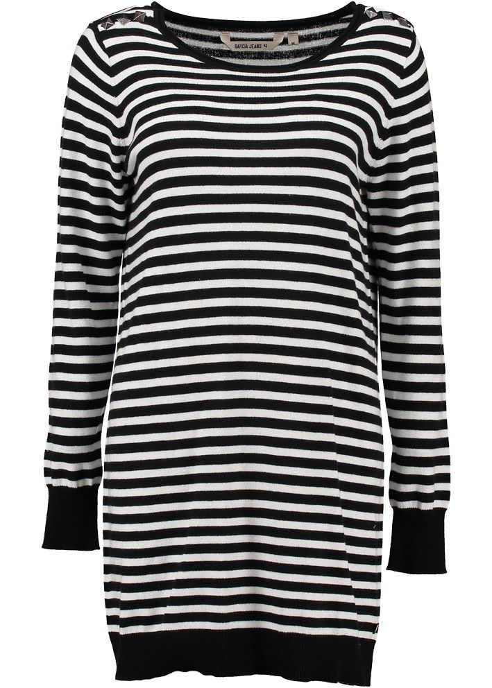 Garcia Sweater lang stribet S60044 Ladies Pullover black stripe – Acorns