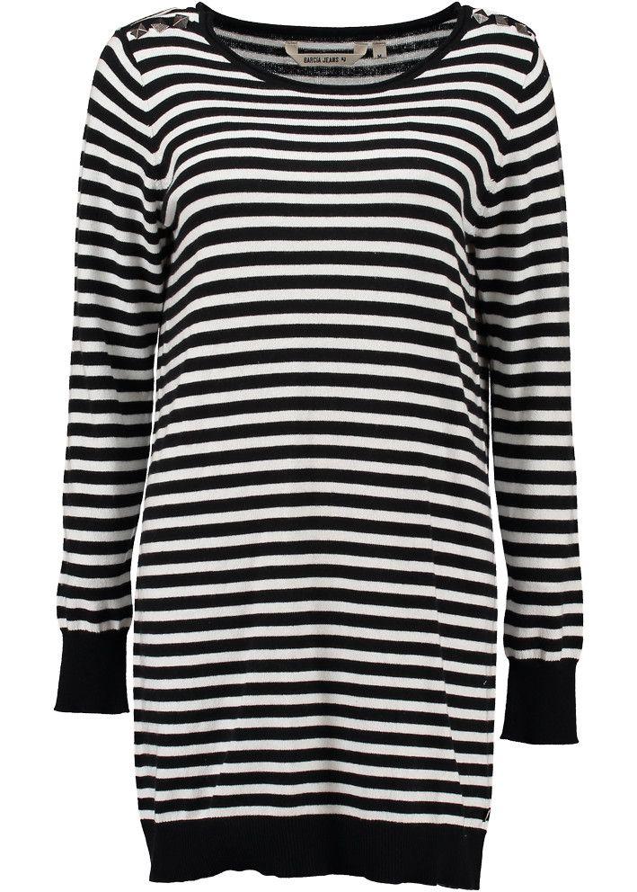 Garcia Sweater lang stribet S60044 Ladies Pullover black stripe – Acorns