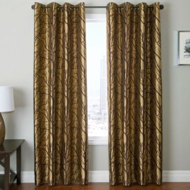 Curtain panels curtains and trees on pinterest for Jcpenney living room curtains