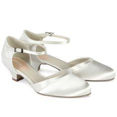 Chaussures de mariage ivoire petit talon Paisley