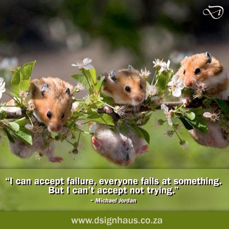 "I can accept failure, everybody fails at something. But I can't accept not trying."" - Michael Jordan"