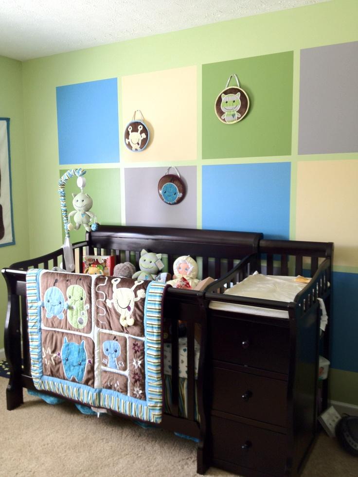Our baby boys monster themed nursery