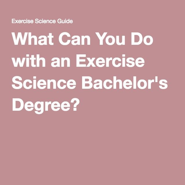 Kinesiology And Exercise Science best bachelor degrees 2017