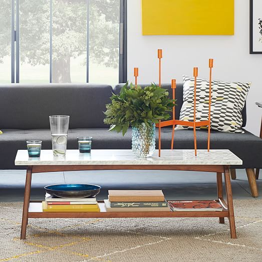 I <3 this table... Reeve Mid-Century Rectangular Coffee Table | West Elm