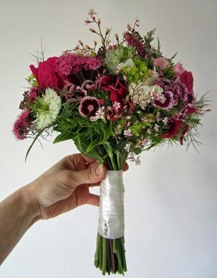 Wedding bouquet with sweet Williams