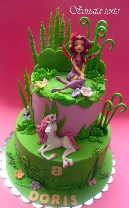 Mia & Me - by sonatatorte @ CakesDecor.com - cake decorating website