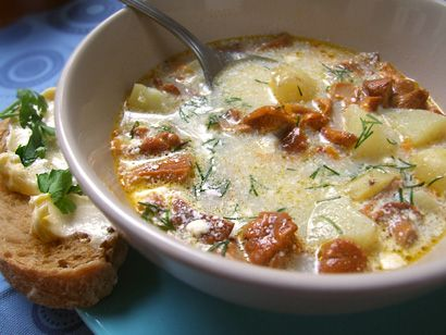 Chanterelle Soup Revisited - Russian Season: Russian and Eastern European Cuisine