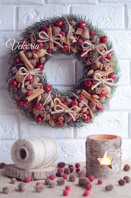 новогодний венок, Christmas wreath, vekoria