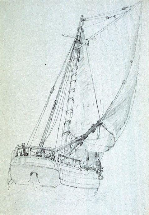 Petit sloop vers 1810 dessin anglais, le Commerce et le Saint-Jean en étaient peut être proche