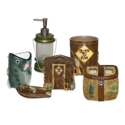 For the boys bathroom - Born to Fish Bath Ensemble - BedBathandBeyond.com