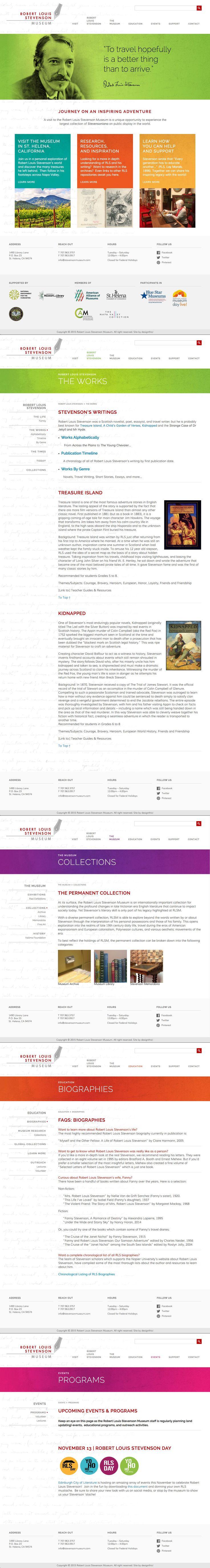 Robert Louis Stevenson Museum   Website   by designthis!