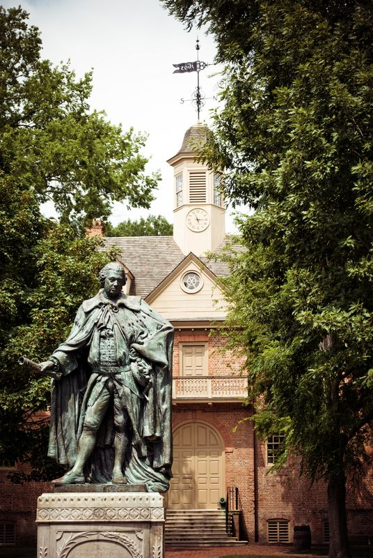 College of William and Mary.  Chartered on February 8, 1693 by King William III and Queen Mary II of England.  Williamsburg