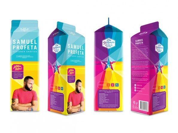 Kreative Bewerbungen müssen nicht ausschließlich digital sein. Der Milchkarton von Samuel Profeta ist auch ein Hingucker! (Bild: samprofeta.com)