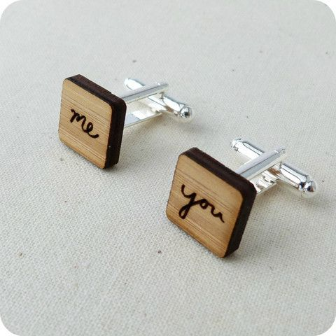 You and Me Cufflinks | One Happy Leaf | Nell and Oll