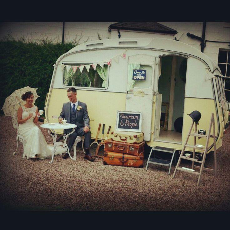 Our lovely vintage caravan.  Xxx