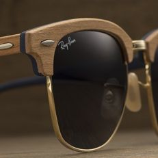 Clubmaster Wood Sunglasses   Ray Ban Online Store