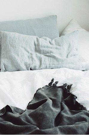 Seafoam Linen Duvet Set with 2 pillowcases - Nest
