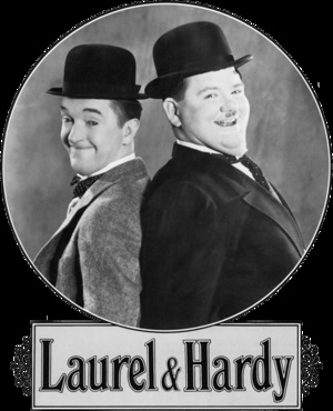 Stan Laurel and Oliver Hardy-  In total, appeared together in 107 films. They starred in 40 short sound films, 32 short silent films and 23 full-length feature films, and made 12 guest or cameo appearances. They loved each other deeply and would famously never perform without the other. After Ollie's death, although asked many times, Stan never performed again. He died 8 years later.
