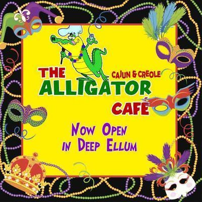 Get ready for Mardi Gras at The Alligator Cafe! Bring in 5 beads for a FREE soft drink or tea now until Fat Tuesday to both locations, in Deep Ellum and Casa Linda.