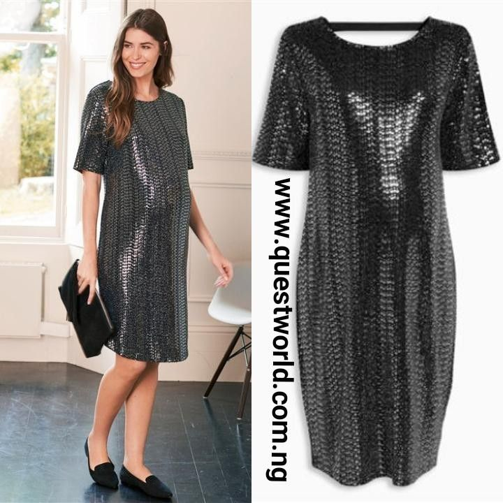 83fa61df6b Next Silver Maternity Sequin Dress size 12 #10000 Spend 30k and get ...