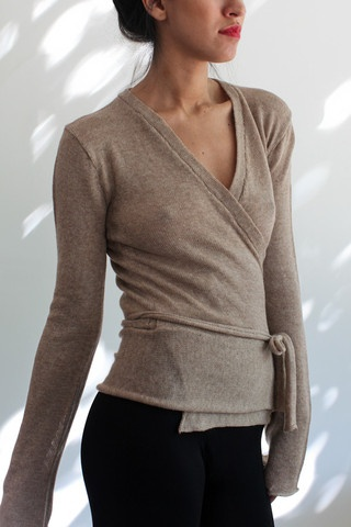 souchi sophia merino wrap sweater only available at souchi.com
