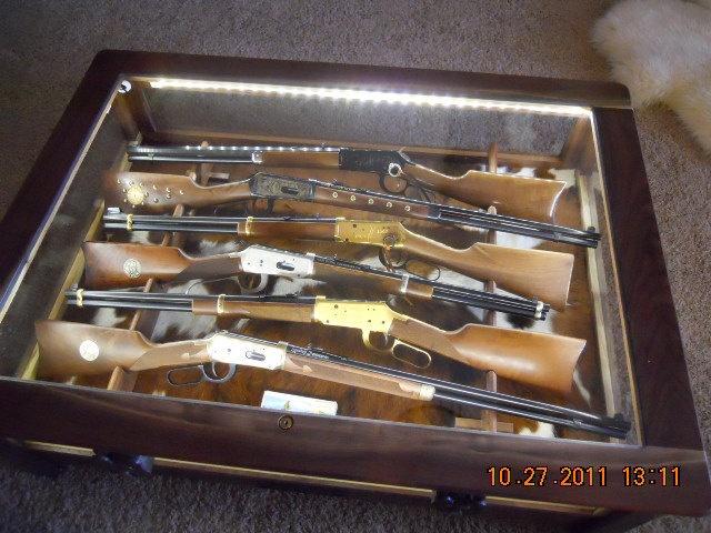 Display Coffee Table Rifle Display Case Rifle Storage