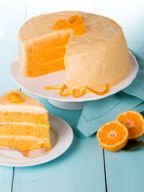 Our mandarin orange cake contains crushed mandarin oranges and is topped with creamy orange icing. Treat your guests with this triple-layer orange cake.