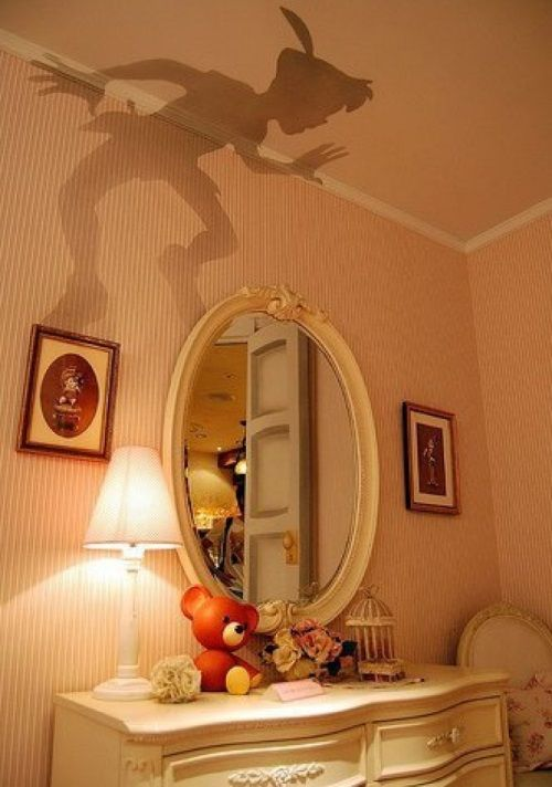 Абажур, отбрасывающий тень на потолок