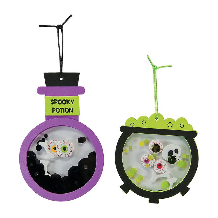 create your own halloween decorations with help from this spooky potion halloween ornament craft kit