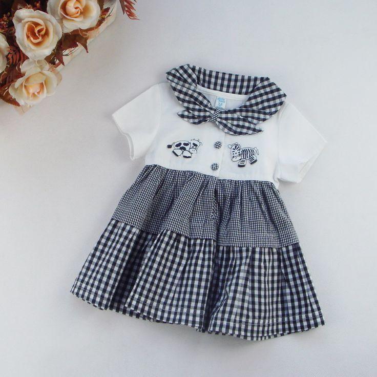 Дешевые дефектные дети детские юбки летом внешней торговли детской одежды новорожденных девочек с короткими рукавами платье корейской версии Taobao LYQ413-