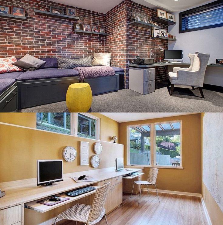 Basement Home Office: 40 Best Best Basement Remodeling Ideas Images On Pinterest
