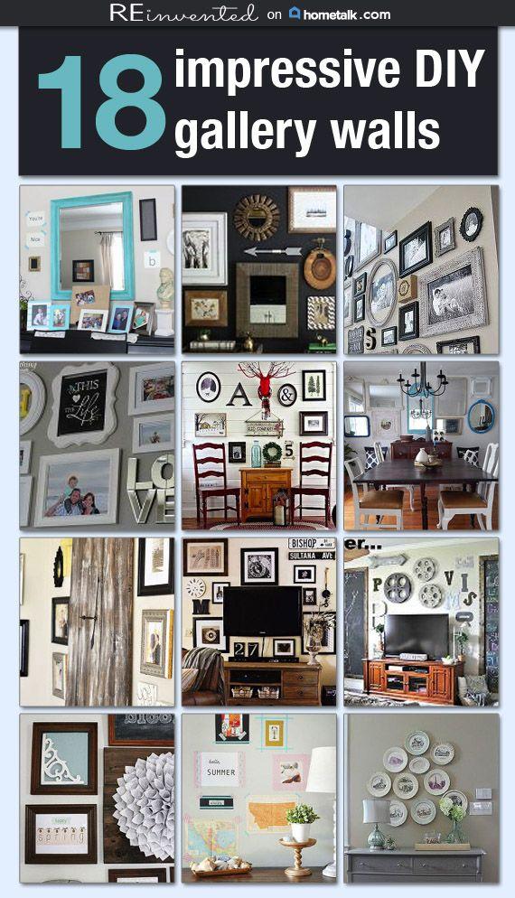 18 Impressive DIY Gallery Walls