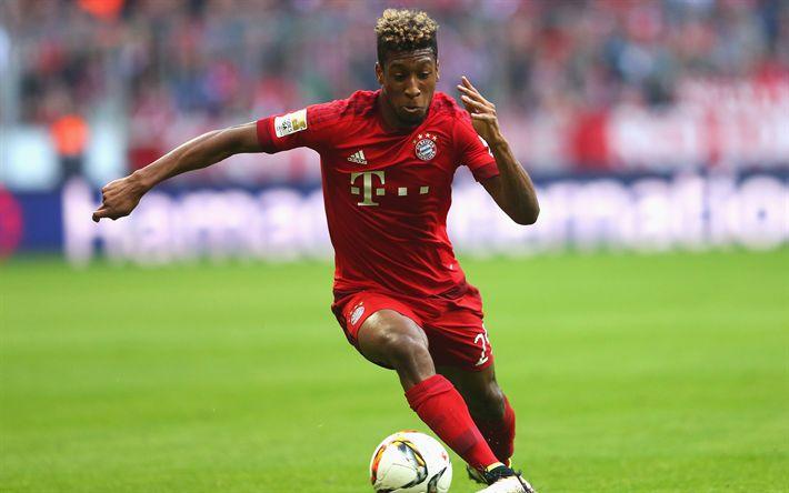 Descargar fondos de pantalla Kingsley Coman, el Bayern de Múnich, fútbol, 4k, Alemania, los jóvenes jugadores de fútbol, futbolista francés