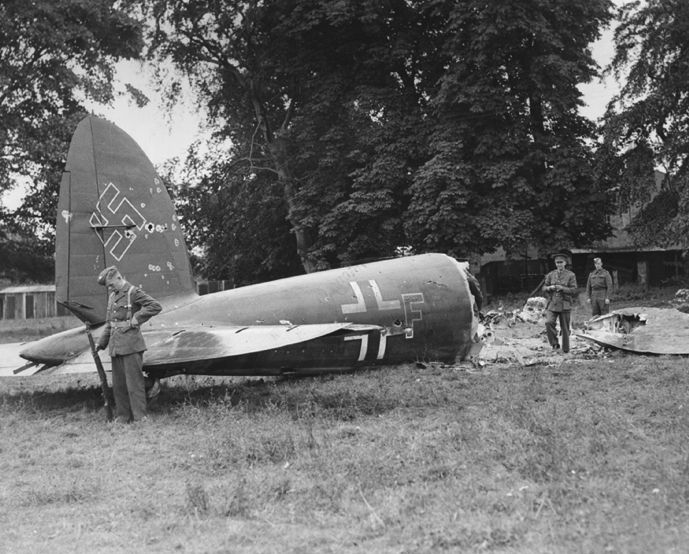 14th August - He111 1G+FS KG27 Took-off at 19.15 hrs. on a reconnaissance in the area north-west of the Bristol Channel, with particular attention to the weather. The reconnaissance was not very successful, owing to unfavourable weather. Intercepted by Hurricanes of No.213 Squadron during a sortie. Also followed inland by two Spitfires of  No.7 OTU suffering many hits, it made a forced landing and the crew set alight the aircraft