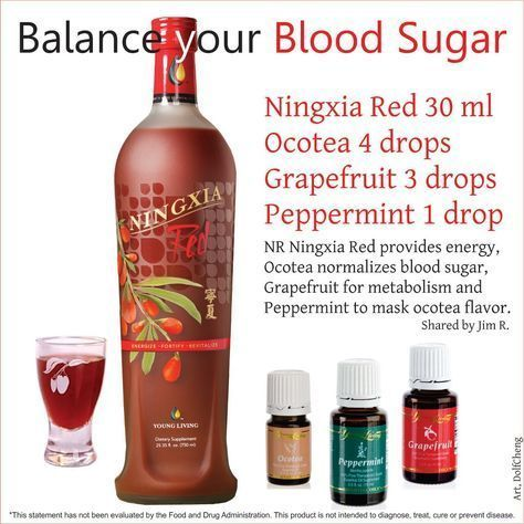 Balance Your Blood Sugar with Young Living Grapefruit, Ocotea, Peppermint Essential Oils & Ningxia Red. For more information visit http://www.youngliving.com - Distributor #1529959 #EssentialOilBlends