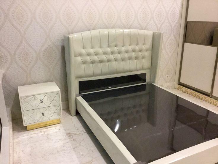 Girls bed room design at Jakarta Botanica Apartment by Simple Luxury Interior Surabaya, Indonesia