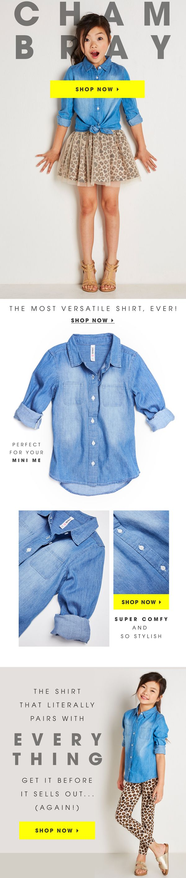 Chambray is Back in Stock!