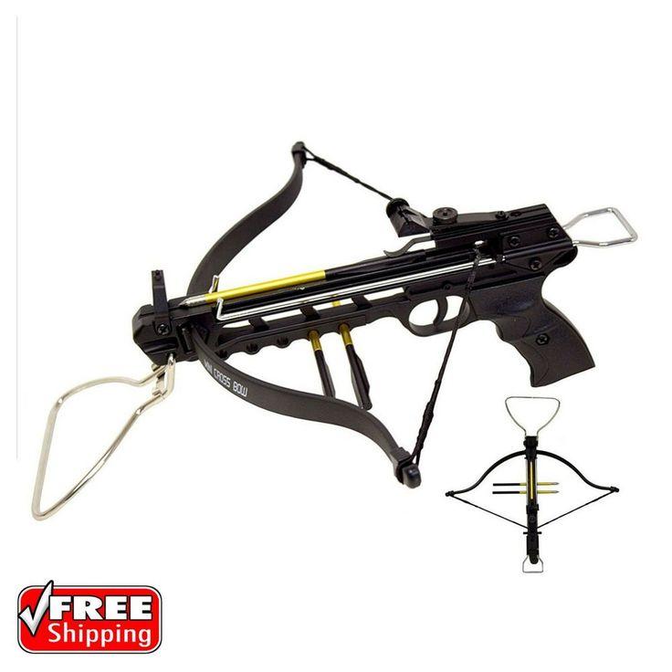 Mini 80 Lb Crossbow Pistol Archery Hunting Arrows Gun Hand Held Cross Bow Holder | Sporting Goods, Outdoor Sports, Archery | eBay!