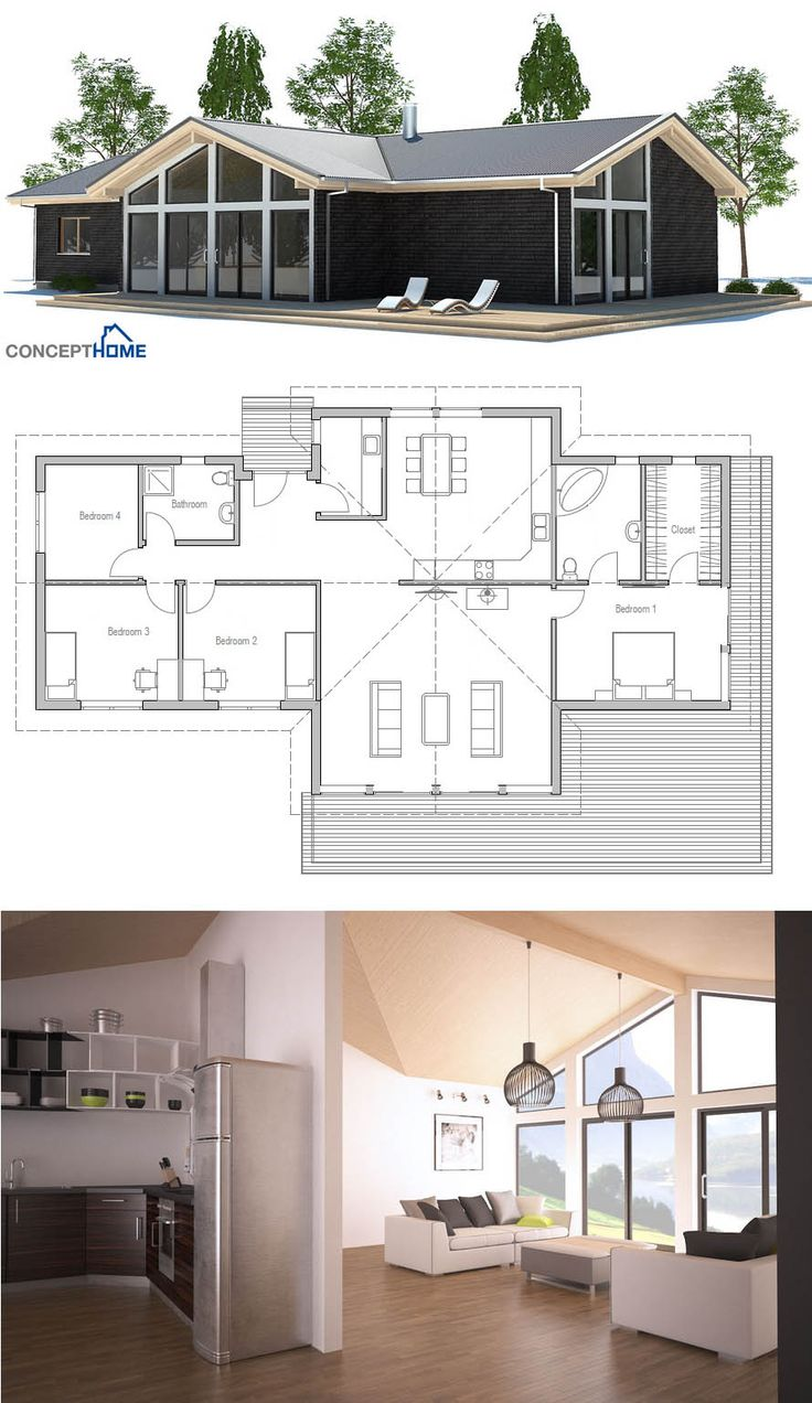 Nice small house plan with vaulted ceiling