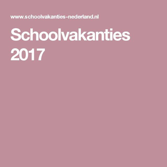 Schoolvakanties 2017