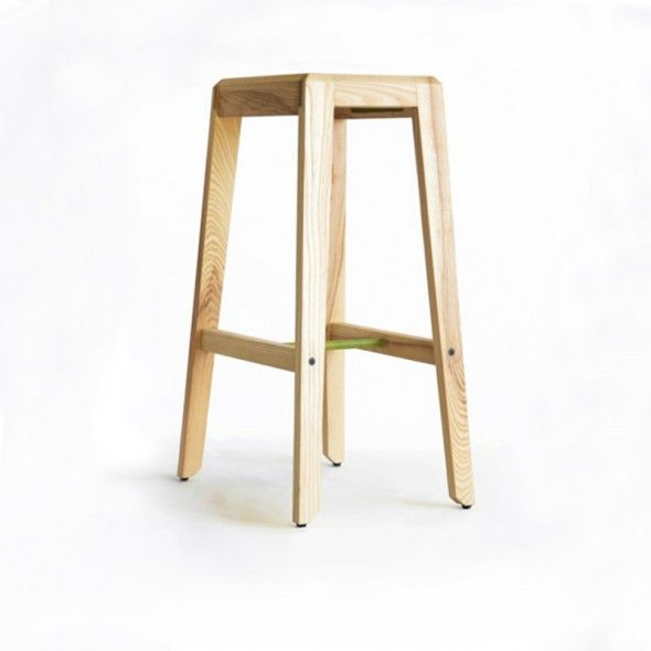 Oscar Stool American Ash by Ian Rouse Furniture Design