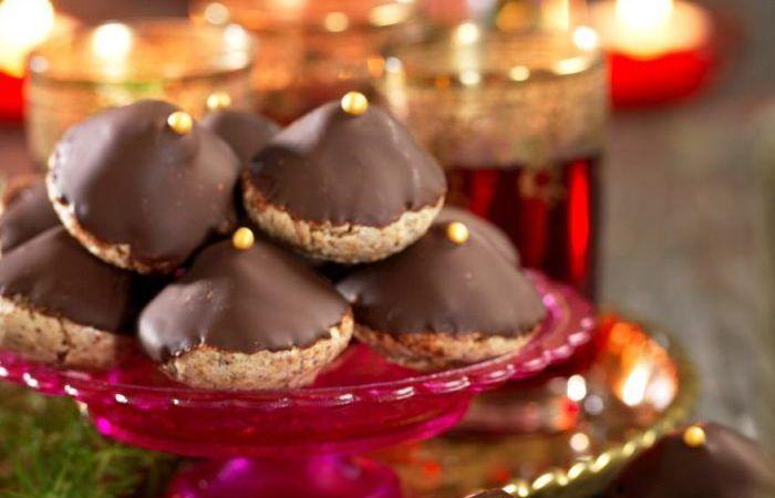 Chokladbiskvier med glöggtryffel