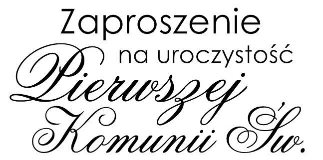 Digi stemple by Novinka: Zaproszenie na uroczystość Pierwszej Komunii Świętej