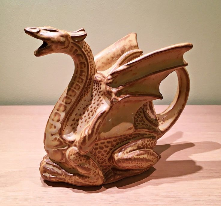 RARE Stonebridge Pottery Celtic / Norse Dragon Teapot 6.5x9.5 ins wide .Based in Walsall Nr. Birmingham,U.K. went into liquidation 2006.,