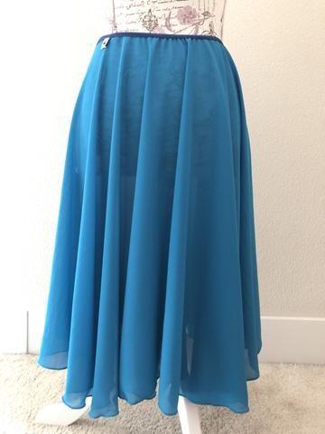 a377da393a New】【Teal Georgette】Rehearsal long flowy skirt | long rehearsal ...