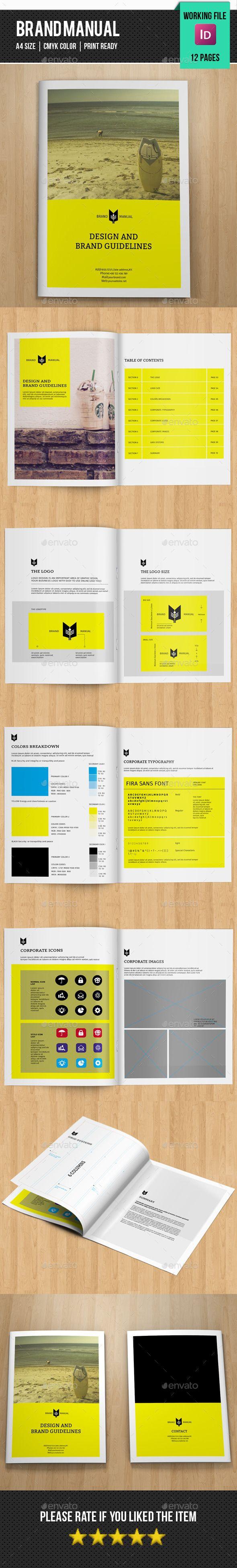 Brand Manual Template #design Download: http://graphicriver.net/item/brand-manualv02/11918460?ref=ksioks