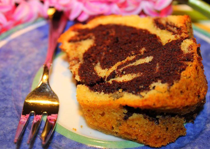 Leckerer und saftiger Mamorkuchen. Rezept. Rührkuchen. Ostern. Sommer. Kuchen. Schokolade. Einfach.
